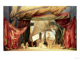"Stage Model for the Opera ""Tristan and Isolde"" by Richard Wagner (1813-83) (Painted Card) Premium Giclee Print"