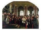 The Proclamation of Wilhelm as Kaiser of the New German Reich, in the Hall of Mirrors at Versailles Giclee Print by Anton Alexander von Werner