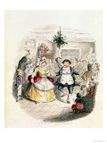 "Mr. Fezziwig's Ball, from ""A Christmas Carol"" by Charles Dickens (1812-70) 1843 Premium Giclee Print by John Leech"