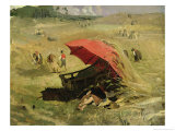 The Red Sunshade, circa 1860 Giclee Print by Franz Seraph von Lenbach