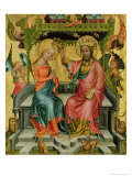 The Crowning of the Virgin, from the Right Wing of the Buxtehude Altar, 1400-10 Giclee Print by  Master Bertram of Minden