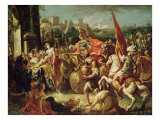 The Entrance of Alexander the Great (356-23 BC) into Babylon Premium Giclee Print by Gasparo Diziani