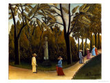 The Monument to Chopin in the Luxembourg Gardens, 1909 Premium Giclee Print by Henri Rousseau