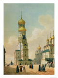Ivan the Great Bell Tower in the Moscow Kremlin, Printed by Lemercier, Paris, 1840s Premium Giclee Print by Felix Benoist