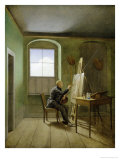Caspar David Friedrich (1774-1840) in His Studio, 1811 Premium Giclee Print by Georg Friedrich Kersting