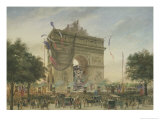 The Funeral of Victor Hugo (1802-85) 1885 Giclee Print by Georges Francois Guiaud