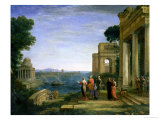 Claude Lorrain - Aeneas and Dido in Carthage, 1675 - Giclee Baskı