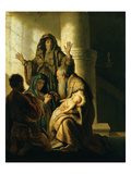 Simeon and Hannah in the Temple, circa 1627 Giclee Print by  Rembrandt van Rijn