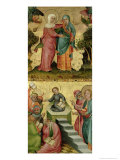The Visitation and the Dispute with Doctors, from the Buxtehude Altar, 1400-10 Giclee Print by Master Bertram of Minden