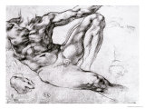 Study for the Creation of Adam Giclee Print by Michelangelo Buonarroti 