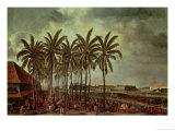 The Castle of Batavia, as Seen from Kali Besar West, circa 1656 Giclee Print by Andries Beeckman