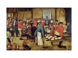 The Wedding Supper Impression giclée par Pieter Brueghel the Younger