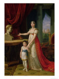Elisa Bonaparte (1777-1820) Grand Duchess of Tuscany and Her Daughter Napoleone-Elisa Giclee Print by Pietro Benvenuti