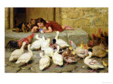 The Last Spoonful, 1880 Giclee Print by Briton Rivi&#232;re