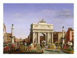 Entry of Napoleon I (1769-1821) into Venice, 1807 Premium Giclee Print by Giuseppe Borsato