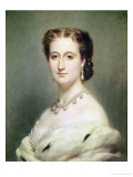 Portrait of the Empress Eugenie (1826-1920) Giclee Print by Franz Xavier Winterhalter