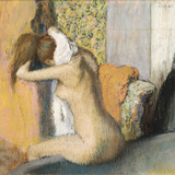After the Bath, Woman Drying Her Neck, 1898 Reproduction giclée Premium par Edgar Degas