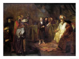 The Twelve Year Old Jesus in Front of the Scribes, circa 1655 Giclee Print by  Rembrandt van Rijn