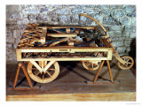 Model of a Car Driven by Springs, Made from One of Leonardo's Drawings Giclée-Druck von Leonardo da Vinci