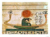 Egyptian Funerary Papyrus Depicting the Barque of Re-Herakhty Giclee Print