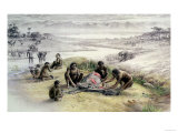 Impression of a Camp Occupied by Homo Habilis Giclee Print by  English School