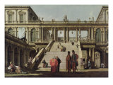 Castle Courtyard, 1762 Giclee Print by Bernardo Belotto