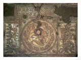 Detail of Hinton St. Mary Mosaic with a Roundel of Bellerophon Slaying the Chimera, circa 350 AD Giclee Print