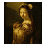 Picture of a Young Girl (Oil on Canvas) Giclee Print by Govaert Flinck