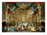 Masked Ball in the Hoftheater, Bonn, 1754 Giclee Print by Jakob Rousseau