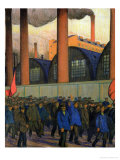 Strike Giclee Print by Boris Kustodiyev