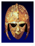 Helmet, from the Sutton Hoo Ship Burial, circa 625-30 AD (Iron & Gilt Bronze) Giclee Print