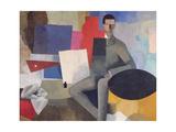 The Seated Man, or the Architect Giclee-trykk av Roger de La Fresnaye