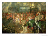 Grand Duchess Elizabeth with Guards During the Coup d'Etat of 1741, 1913 Giclee Print by Evgeni Evgenievitch Lanceray