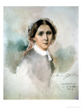 Portrait of Clara Schumann (1819-96) 1853 Giclee Print by Joseph Bonaventure Laurens