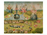 The Garden of Earthly Delights: Allegory of Luxury, Central Panel of Triptych, circa 1500 Impressão giclée por Hieronymus Bosch