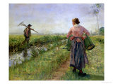 In the Morning, 1889 Reproduction procédé giclée par Fritz von Uhde