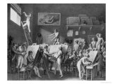 The Studio of Jacques Louis David (1748-1825) Premium Giclee Print by Jean Henri Cless