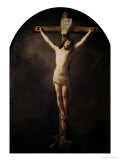 Christ on the Cross Premium Giclee Print by  Rembrandt van Rijn