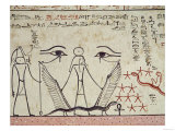 The Two Mystical Eyes, from the Tomb of Tuthmosis III (circa 1504-1450 BC) New Kingdom (Mural) Giclee Print