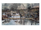 The Battle of the Yser in 1914 Giclee Print by Francois Flameng