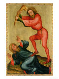 The Killing of Abel, Detail from the Grabower Altarpiece, 1379-83 Giclee Print by Master Bertram of Minden