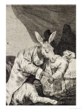 "Of What Ill Will He Die, Plate 40 of ""Los Caprichos,"" 1799 Giclee Print by Francisco de Goya"