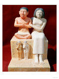 Statuette of the Dwarf Seneb and His Family, circa 2475 BC (Painted Limestone) Giclee Print