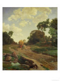 Landscape with Haywagon, circa 1858 Giclee Print by Valentin Ruths