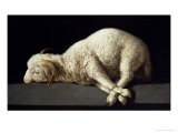 Agnus Dei, circa 1635-40 Reproduction proc&#233;d&#233; gicl&#233;e par Francisco de Zurbar&#225;n