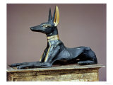 Anubis, Egyptian God of the Dead from a Chest in the Form of a Shrine, from the Tomb of Tutankhamun Giclee Print