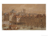 The Grand Chatelet and the Pont Aux Meuniers Giclee Print by Theodor Josef Hubert Hoffbauer