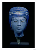 Royal Head, Possibly Tutankhamun, New Kingdom, circa 1354-14 BC (Pressed Glass) Giclee Print
