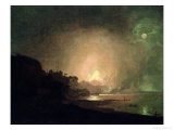 The Eruption of Mount Vesuvius Giclee Print by Joseph Wright of Derby