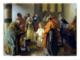 Twelve-Year Old Jesus in the Temple, 1851 Giclee Print by Adolph von Menzel
